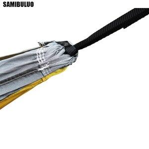 Image 5 - SAMIBULUO na świeżym powietrzu wysokiej jakości dorosłych trwałe spadochron Camping hamak z opaska na drzewo podwójne