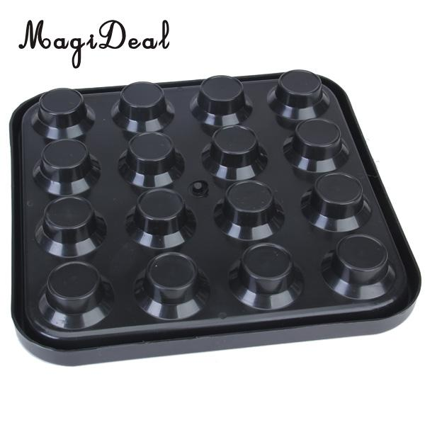 MagiDeal Professional Plastic Pool Billiard Ball Tray Holds 16 Balls - Black for Funny Indoor Table Game Sport Acee Friend Gifts