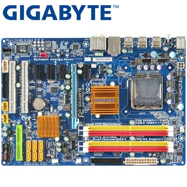 GIGABYTE GA-EP43-S3L рабочего Материнская плата P43 разъем LGA 775 для Core 2 Pentium D DDR2 16G ATX оригинальный использовать EP43-S3L плата