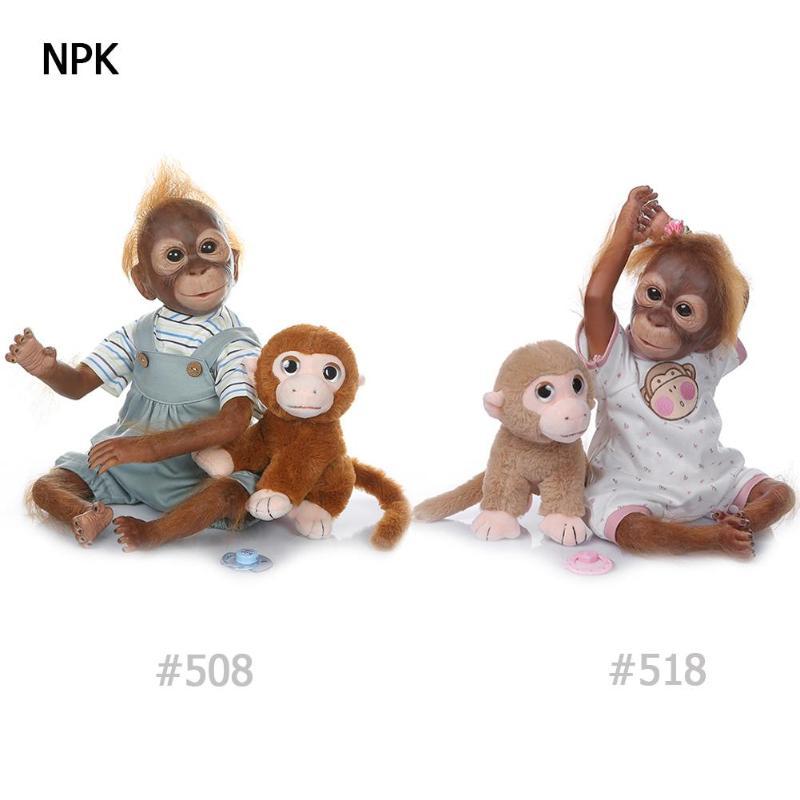 Niños simulación mono muñeca juguete bebé recién nacido realista animales muñeca jugar juguetes Inafnt dormir Playmate niños Fotografía Prop-in Muñecas from Juguetes y pasatiempos    1