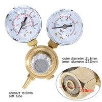 1 stück Micro Argon CO2 Messgeräte Druckminderer Mig Gas-durchflussmesser Control Druckminderer Dual Gauge Schweißen Regler Mayitr