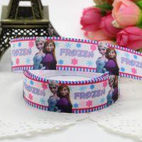 7/8'' Free shipping elsa anna anna elsa chevron printed grosgrain ribbon hairbow party decoration diy wholesale OEM 22mm P2691
