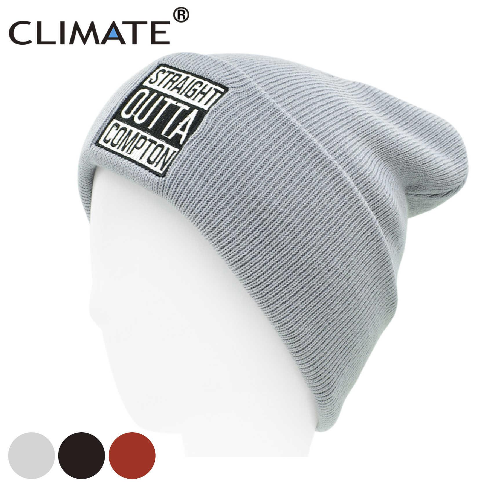 b4d9862f79d Detail Feedback Questions about CLIMATE Straight Outta Compton Hat Beanie  Men Logo Hat Winter Beanie Cap Men Women Warm Knit Beanie Black Hat Caps  for Men ...