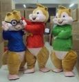 2016 Hot Sale ! New Alvin and the Chipmunks Mascot Costume Alvin Mascot Costume Free Shipping