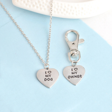 Heart-Shaped Dog Collar Pendant and Master Necklace Matching Set