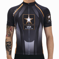 Dark Grey Mans USA Stars Racing Bike Pro Team Cycling Clothing Ropa Ciclismo Moisture Wicking MTB