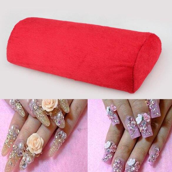 Rood Nieuwe Soft Hand Kussen Kussen Rest Nail Art Diy Manicure Art