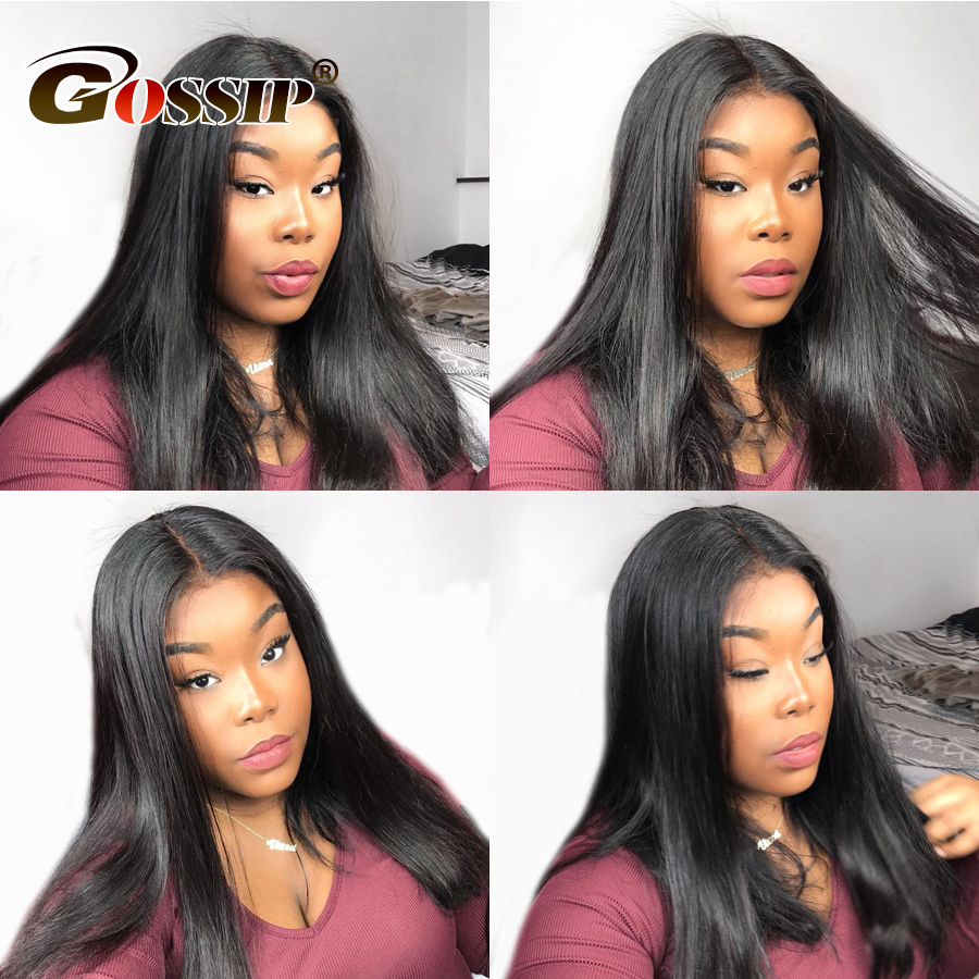 Glueless 360 Lace Frontal Wig Pre Plucked Peruvian Straight Human Hair Wigs 360 Lace Wig Remy Human Hair Wigs For Black Women-in Human Hair Lace Wigs from Hair Extensions & Wigs    1