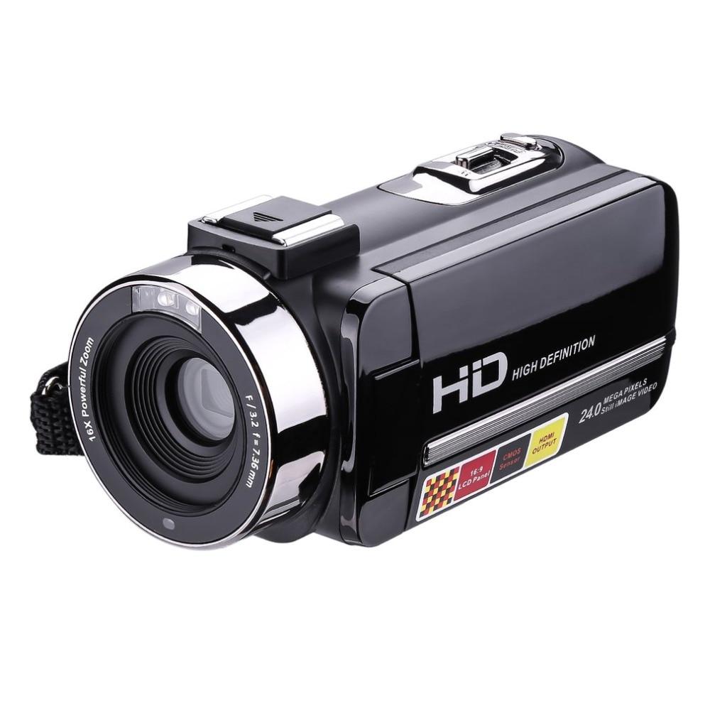 HDV-302P 3,0 дюймов ЖК-дисплей Экран Full HD 1080p 24MP 16X цифровой зум Anti-shake цифрового видео DV Камера видеокамера