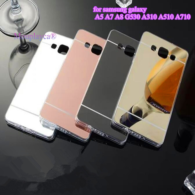 Mouplayca Fashion Phone Cases For Sumsung Galaxy A5 A7 2016 J5 J7 Grand Prime Case Luxury Mirror Surface soft TPU Cases covers ...
