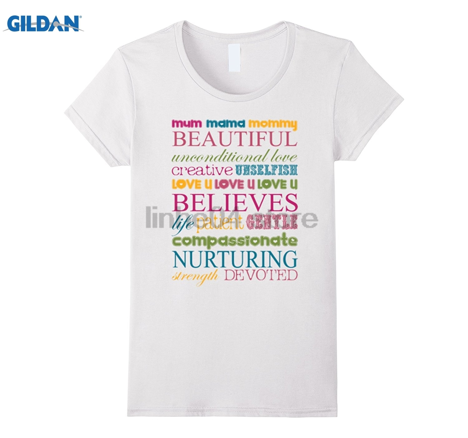 GILDAN Womens Mothers Day Gift Mum Mama Mommy Beautyful T-shirt Dress female T-shirt