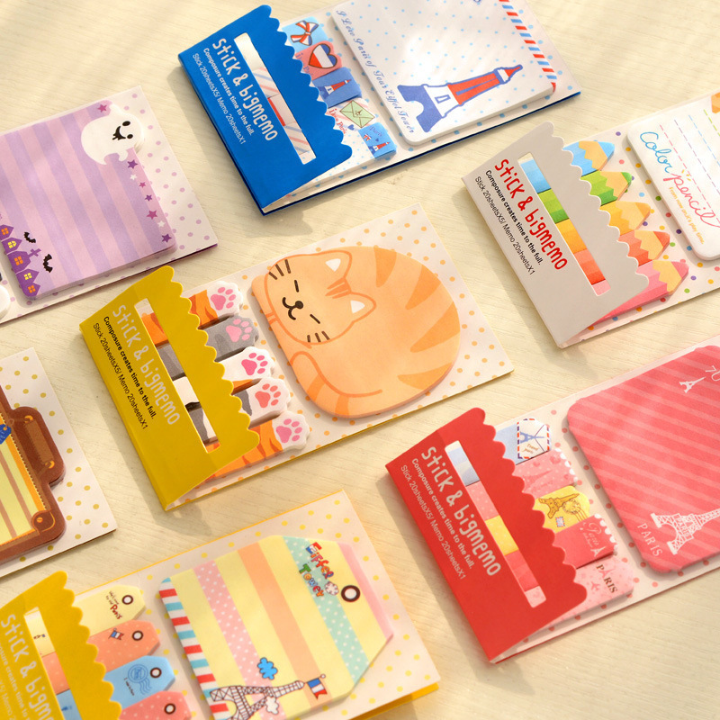 Animal Panda Cage Lovely Kawaii Sticky Notes Post It Memo Pad School Supplies Planner Stickers Paper Bookmarks Korean Stationery