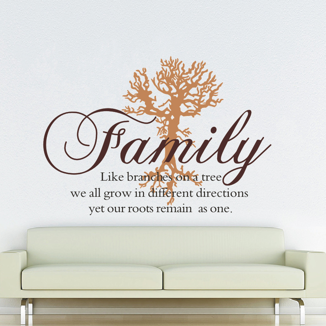 family like branches wall decal family tree art removable wall