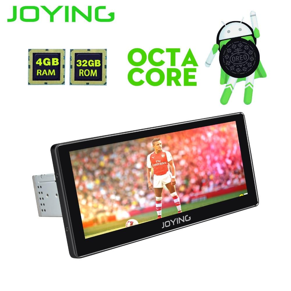 JOYING 10.25 1Din GPS Android 8.0 Voiture Radio Octa Core PX5 Tête Unité HD Tactile Lecteur d'écran avec Bluetooth wiFi FM Carplay Auto