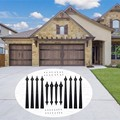 LWZH раздвижные двери сарая каретки акценты дверная фурнитура набор декоративные металлические черные 4 ручки 8 петли для деревянных раздвиж...