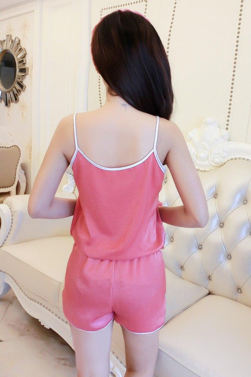 Queenral Women Silk Pajamas 7pcs Sets Pyjamas Set Women Underwear Home Clothes Sexy Pajamas For Women Night Suit Sleepwear  5
