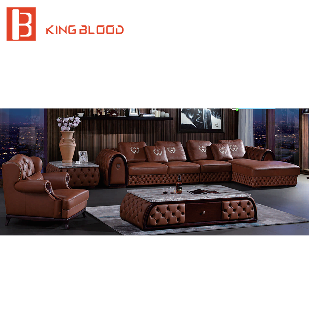 US $5298.0  Newest European Living Room Furniture Corner Leather Sofa  Divani-in Living Room Sofas from Furniture on AliExpress - 11.11_Double ...