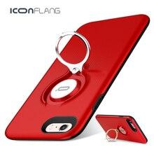 Для iPhone 6 plus ca s e iconflang 360 градусов вращая металлическое кольцо ca s e S ТПУ + PC сплава анти-капля для iphone 6S 6S плюс крышка
