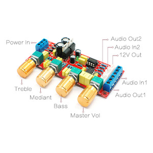 Image 2 - CIRMECH NE5532 OP AMP HIFI Amplifier Preamplifier Volume Tone EQ Control Board DIY KIT and finished product