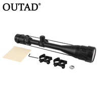 OUTAD Professional Optical Aiming Rifle Telescopic Scope Outdoor Hunting Riflescope 6 24x50 + Adjustable Mounting Bracket Black