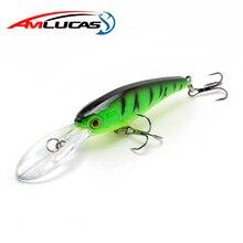 Amlucas Minnow Fishing Lure 9cm 7.5g Wobblers with 6# Hooks Floating Hard Bait Fishing Tackle Pesca Carp Crankbait WE174