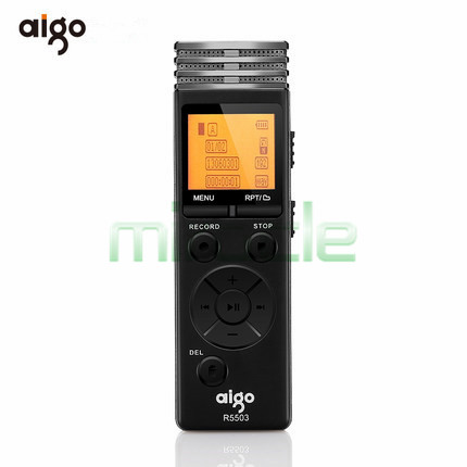 ФОТО Aigo R5503 8g ecorder 72 h audio recording miniature professional MP3 player super long standby HD noise reduction Dictaphone