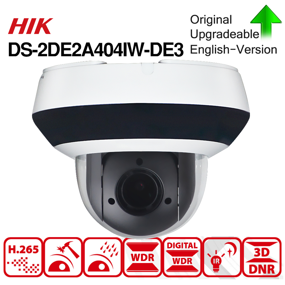 Image 3 - Hikvision Original PTZ IP Camera DS 2DE2A404IW DE3 4MP 4X zoom Network POE H.265 IK10 ROI WDR DNR Dome CCTV Camera-in Surveillance Cameras from Security & Protection