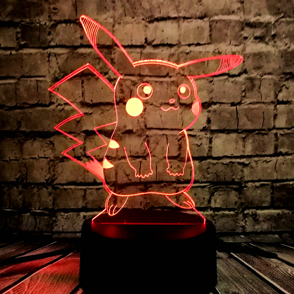 HOT SALE Japanese Cartoon Figure 3D LED USB Lamp Pokemon Go Game - Night Lights - Photo 4