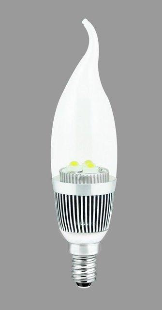 3W LED Flame shape Light 100-240V, LED Candle lamp,
