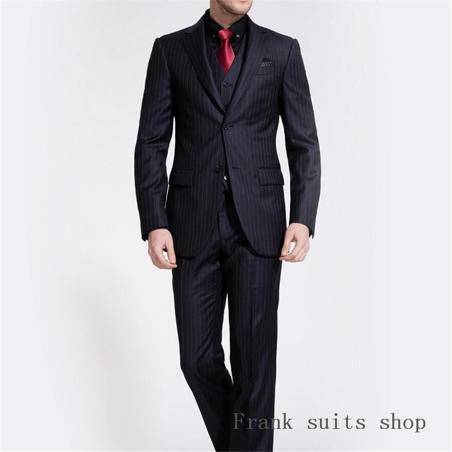 costume homme 2018 fashion formal black stripe men suit. Black Bedroom Furniture Sets. Home Design Ideas