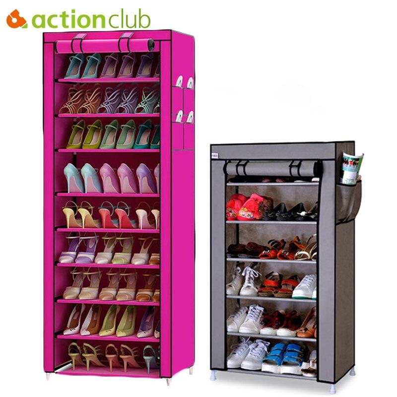 Actionclub 7 Couches 10 Couches Chaussures Armoire De Rangement BRICOLAGE Assemblée Étagère À Chaussures Antipoussière Étanche À L'humidité Grande Capacité Étagère à Chaussures