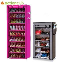 Actionclub 7 capas 10 capas zapatos de almacenamiento gabinete DIY montaje zapato estante a prueba de polvo hidratante gran capacidad Zapatero