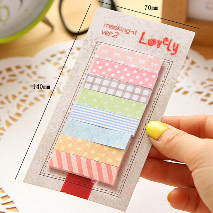 1 PCS New Lovely Korea Kawaii Office Stationery Sticky Notes 160 Pages Sticker Post Bookmark Point Marker Memo Sticker Paper