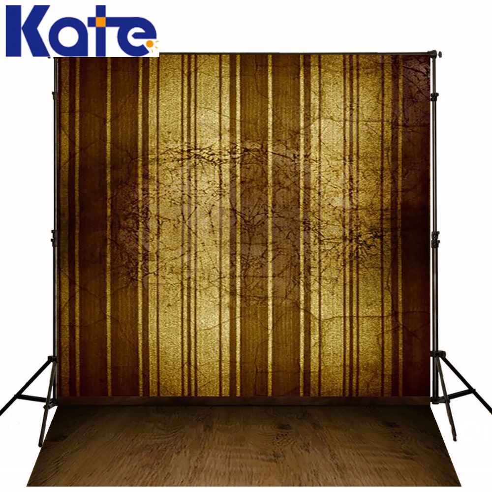 Photography Backdrops Nostalgia Dark Coffee Color Walls Wood Brick ...