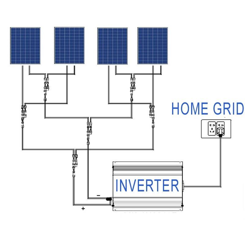 Image 5 - 2000W Battery Discharge Power Mode/MPPT Solar Grid Tie Inverter 2KW with Limiter Sensor DC 45 90V AC 220V 230V 240V PV connectedInverters & Converters   -