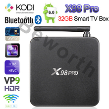 3 ГБ RAM 32 Г X98 PRO Metal TV Box 3 Г/16 Г 2 Г/16 Г Android 6.0 S912 Окта основные 4 К Kodi H.265 Amlogic 16.1 Fully Loaded Smart Set топ