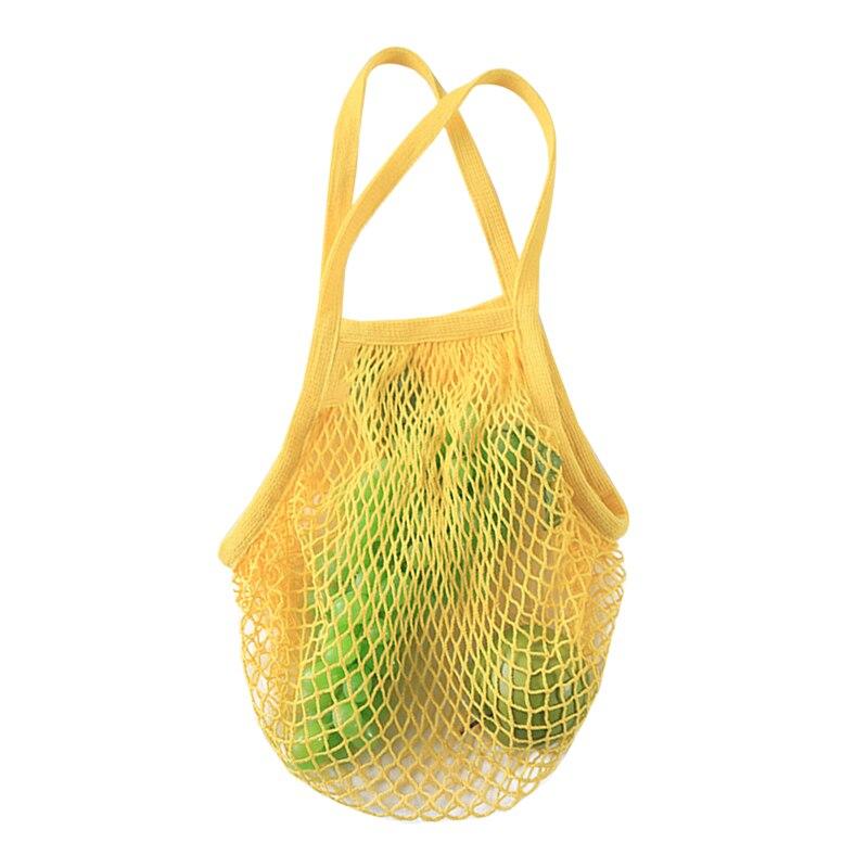 ac928db1157 US $5.37 15% OFF|Fashion Elastic String Net Shopping Bag Reusable Folding  Grocery Mesh Multifunction Handbag ECO Travel Home Storage Organizer-in ...