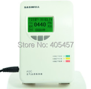 Saswell  AQC910.1V-DO  monitor/alarm, indoor air quality detector and control, VOC  environment protector digital indoor air quality carbon dioxide meter temperature rh humidity twa stel display 99 points made in taiwan co2 monitor