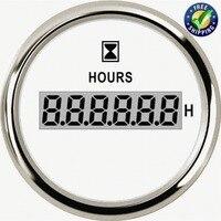 Automotive Instrument Panel Hour Gauges 52mm Digital Hour Meters 0 99999.9H Display Waterproof Clock Gauges Hourmeters 9 32v