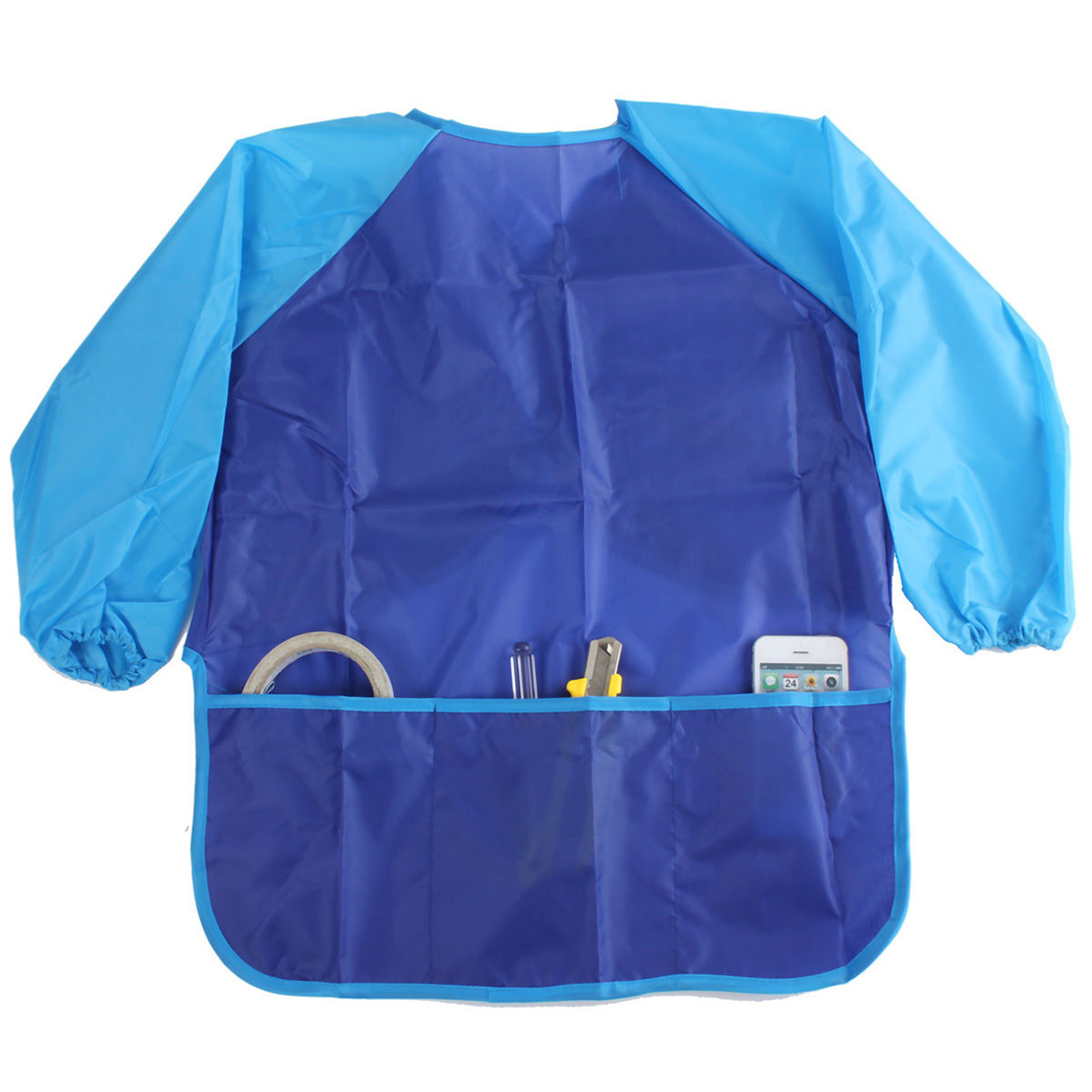 Children Kids Craft Apron For Painting Waterproof Smock Sleeve 17.3x21.65 WxH , Blue ...