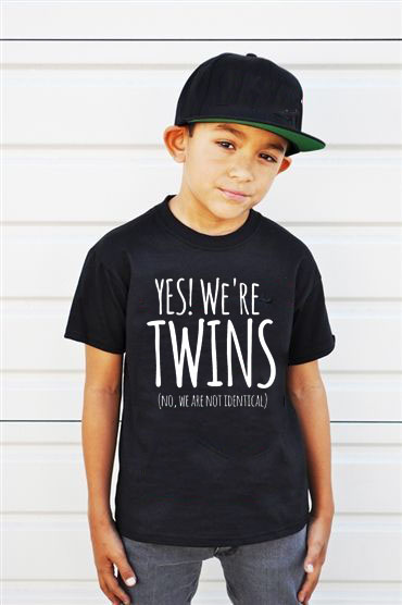 Yes We Are <font><b>Twins</b></font> Letter Print Baby Boys T <font><b>Shirt</b></font> Summer New Children Kids Boy's Shorts Sleeve Clothes Boys Tops Tees Fashion image