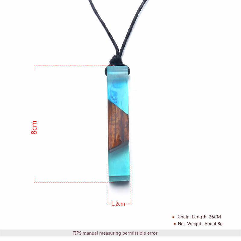 BOAKO модные смолы океан деревянный кулон ожерелье ручной работы цепочка, браслет ручной работы, Цепочки и ожерелья для Для женщин ювелирные изделия оптовая продажа Z4
