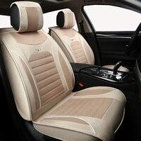 High quality linen Universal car seat covers for Nissan 350z almera classic g15 n16 bluebird cefiro juke leaf note primera auto