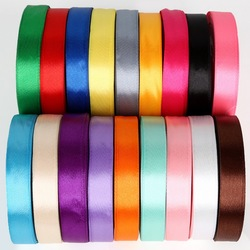25Yards 15mm Solid Color Silk Satin Ribbon For Wedding Party Decoration Gift Wrap Christmas Ribbon DIY Bow Craft