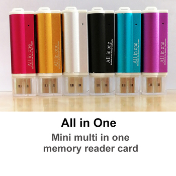 Multi in 1 TF Card Reader For Micro USB 2.0 Adapter Memory Card for Micro SD SDHC TF M2 MMC MS PRO DUO Card Reader Dropshipping