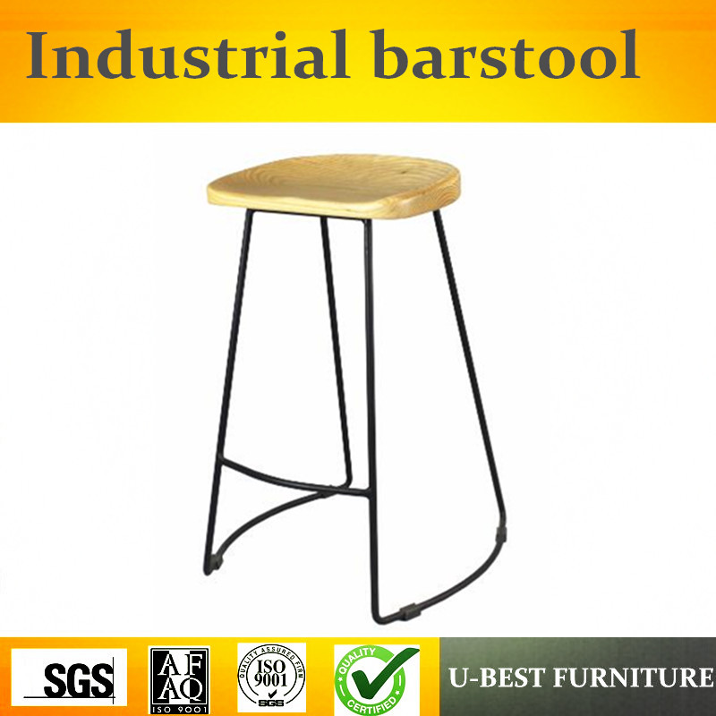 Free Shipping U-BEST Metal Industrial Bar Stool Barstool For Cafe Restaurant,Industrial Metal Barstools / Bar Chair Seat