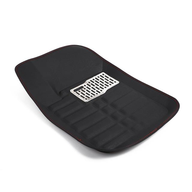 Alfombrillas universales para el suelo de coche negro 5 piezas almohadilla para el pie del conductor 5 asientos parte trasera de la plataforma delantera de los vehículos alfombra