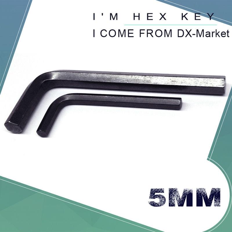 Llave hexagonal de 5 mm, 20 piezas, llave métrica Allen hexagonal métrica negra de 5 mm, llave Allen m5 45 # herramientas de bricolaje de acero, fabricante de sujetadores de China