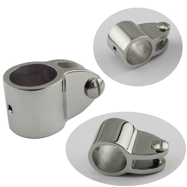 Durable Stainless Steel Top Jaw Slide  Sleeve Boat Hardware Connecting Hinge with Bolt 22mm/25mm