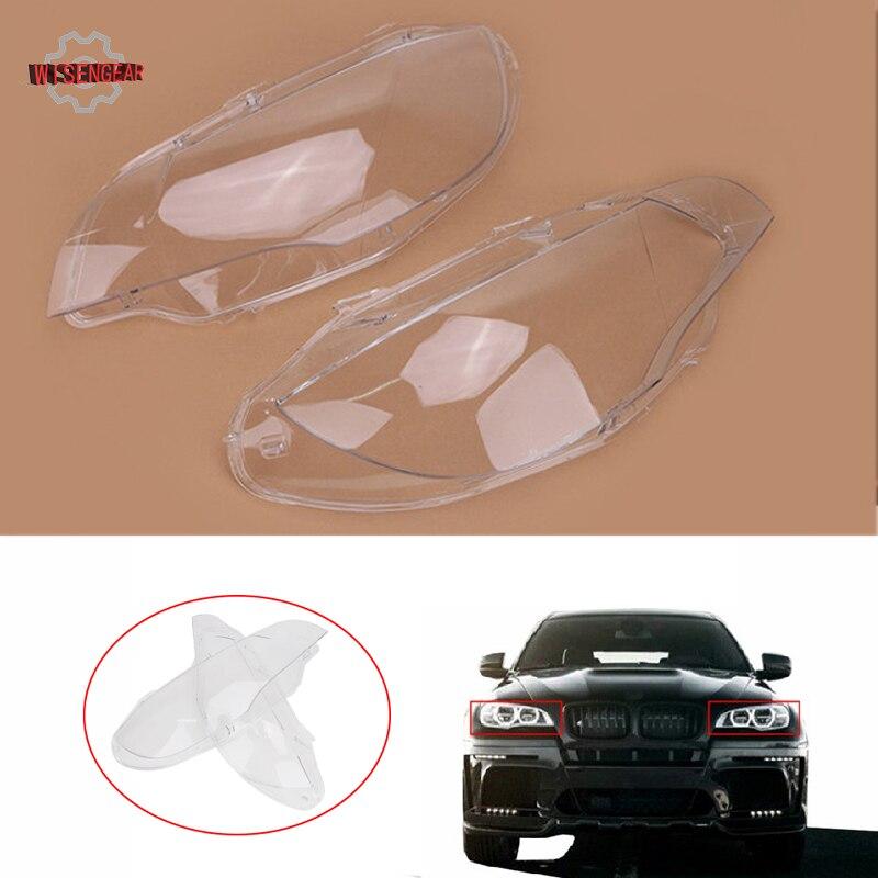 Couverture de phare Head Light Lampe Abat-Jour Lentille Shell Logement Pour BMW X6 E71 2007-2010 Lifting 2011-2014X5 m E70/